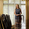 Indiana first lady Cheri Daniels stands in the formal dining room at the Governor's Residence in Indianapolis on Tuesday afternoon. Daniels is in her last year as Indiana's first lady, a title she has held since her husband Mitch Daniels was elected in 2005. Staff photo by Christopher Fryer