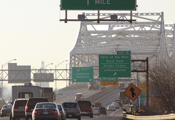 Traffic was light on the Kennedy Bridge at 8:30a.m. Monday morning.  Staff  photo by C.E. Branham