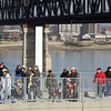 The Big Four Bridge access ramp at Waterfront Park in Louisville. Staff photo by C.E. Branham