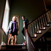 Tiffany Fults and Tyler Morrison, both of Floyds Knobs, make their way down stairs while touring the historic Lofton House, 1103 E. Main St., in New Albany on Saturday afternoon. The house was one of 10 homes open to the public for the Seventh Annual New Albany Historic Home Tour. Staff photo by Christopher Fryer