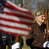 Veteran Garnett Lowe, 92, and other members of the American Legion Post 335 and VFW Post 1427 color guard attend the Utica Veterans Day ceremony over the weekend. Staff photo by C.E. Branham