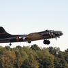 "The B-17 Flying Fortress ""Memphis Belle"" taking off from the Clark County Airport on Monday. Staff photo by C.E. Branham"