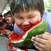The Charlestown Founders Day watermelon eating contest is Saturday at 2:30 p.m. on the city square. Staff photo by C.E. Branham