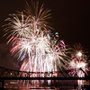 Fireworks explode above the Ohio River during Thunder Over Louisville on Saturday night. Staff photo by Christopher Fryer