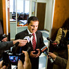 Floyd County Prosecutor Keith Henderson talks members of the media outside of his office at the City-County Building in New Albany following the announcement of the not guilty verdict in the David Camm trial on Thursday afternoon. Camm was accused of killing his wife and two children in their Georgetown home in 2000. Staff photo by Christopher Fryer