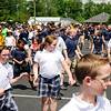 Holy Family Catholic School students dance during Project All Children Exercise Simultaneously in the main parking lot at the school on Wednesday afternoon. The annual world-wide event is held on the first Wednesday of May and is designed to promote exercise and movement. Staff photo by Christopher Fryer