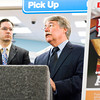 Indiana Attorney General Greg Zoeller speaks to members of the media in the CVS along Spring Street in Jeffersonville at the launch of a statewide anti-meth campaign on Wednesday afternoon. Staff photo by Christopher Fryer