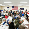 Community supporters attend a fundraiser at the Trinity United Presbyterian Fellowship Hall in New Washington to help volunteer firefighter Daniel Stoner, New Washington, with recently acquired medical expenses. More than 500 people were expected to attend the event hosted by the New Washington Volunteer Fire Department. Staff photo by Christopher Fryer