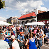 Festival goers move down West Court Avenue while attending the Jeffersonville Italian Festival on Saturday afternoon. Staff photo by Christopher Fryer
