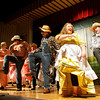 "Cast members rehearse a number from the musical ""Oklahoma"" in the performing arts center at Scribner Middle School in New Albany on Tuesday afternoon. The show will run Thursday and Friday, April 18 and 19, and doors open at 7 p.m. Tickets are $5. Staff photo by Christopher Fryer"
