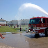 The New Albany Fire Department in cooperation with Mayor Jeff Gahan and the New Albany Housing Authority held beach style parties at four locations in the city Thursday. Gahan said the excitement of the children for the event highlighted the fact the city still doesn't have a public pool. Photos submitted.