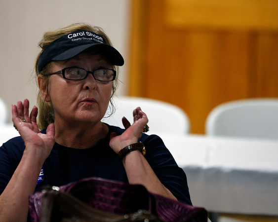 Carol Shope, who ran for the at-large seat on the Floyd County Council, got the most votes for the seat. Shope will advance to the general election in November. Staff photo by Jerod Clapp