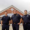 New Albany Fire Chief Matt Juliot, center, stands with firemen Jay Barnes, left, and Jody Kochert in front of the New Albany Fire Department along Spring Street in New Albany on Thursday morning. Juliot was named Fire Chief of the Year, Barnes received the Fire Instructor of the Year award and Kochert was recognized as the EMT-Intermediate of the Year on Sept. 14 at the Indiana Emergency Response Conference in Indianapolis. Staff photo by Christopher Fryer