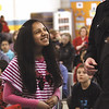 Jennifer Martinez, above, and 74 other Thomas Jefferson Elementary School fifth-graders graduated form the Jeffersonville Police Department's D.A.R.E program Friday morning.  Staff photo by C.E. Branham