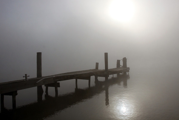 A dense fog limited visibility Thursday morning in the area. Staff photo by C.E. Branham
