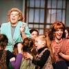 """Brooke Skaggs, senior and Sarah Inman, sophomore, act out an opening scene as Ms. Hannigan and Annie in Jeffersonville High School's production of """"Annie."""" The show opens at 7:30 p.m. on Nov. 29. Staff photo by Jerod Clapp"""