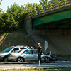 Emergency crews work the scene of a four vehicle injury accident in the west bound lanes of Interstate 265 below Klerner Lane on Wednesday morning in New Albany. The approximate time of the wreck was 9:30 a.m. Staff photo by Christopher Fryer