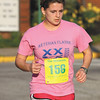 Silver Creek High School student Rachel Clemons won the women's race in The Shamrock. Staff photo by C.E. Branham