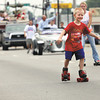 Brady Haycraft skates his way down Eastern Boulevard in the Clarksville Parade Monday afternoon. The parade was sponsored by the Town of Clarksville and the Eastern Boulevard Business Association. Staff photo by C.E. Branham