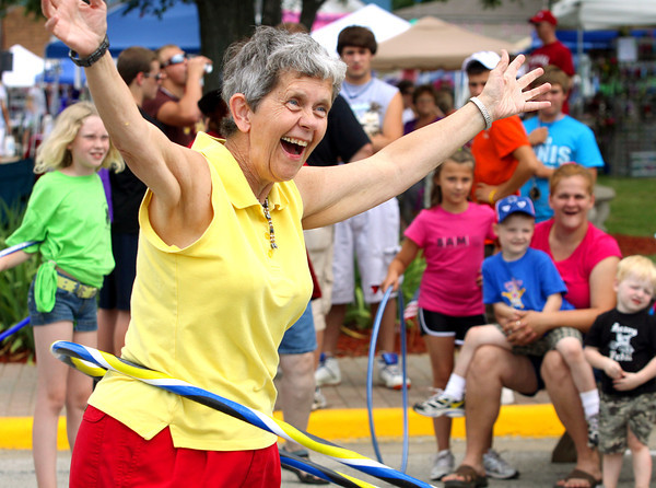 The City of Charlestown annual Founders Day celebration runs Friday and Saturday on the city square and Greenway Park. The Hula Hoop contest is 2 p.m. Saturday on the city square. Staff photo by C.E. Branham