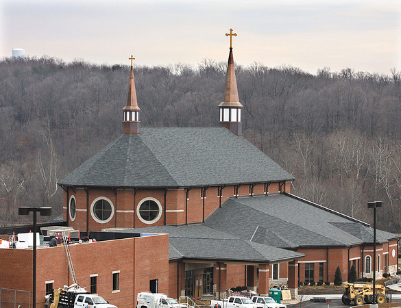 St. Mary of The Knobs Catholic Church is building a new church next to the old one on Martin Rd. in Floyds Knobs.  The dedication of the new church is set for 2p.m. on Sunday, March 25.  Staff photo by C.E. Branham
