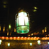 Ball jar light fixtures hang in a dining room at Big Four Burgers + Beer in Jeffersonville. Staff photo by Christopher Fryer