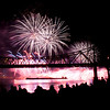 Spectators look on from Van Dyke Park in Jeffersonville as fireworks explode above the Ohio River during Thunder Over Louisville on Saturday night. Staff photo by Christopher Fryer