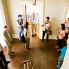 Fran Fach, Sellersburg, center right, leads a tour of the St. Paul's Episcopal Church Parish House as part of the Preserving Historic Places: Indiana's Statewide Preservation Conference in New Albany on Friday afternoon. Staff photo by Christopher Fryer