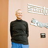 Sam Shine, the founder and former CEO of Samtech, stands in the front lobby of the company's headquarters in New Albany on Monday morning. Staff photo by Christopher Fryer