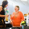 Barbara Bridgwater, Floyds Knobs, speaks with Geradine Schultze, Georgetown, during Bridgwater's retirement party from Youth Count at the Brown Starks Building in New Albany on Thursday evening. Bridgwater served as the community youth champion for Youth Count, which is a community-wide initiative for positive youth development. Staff photo by Christopher Fryer