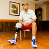 David Bennett, Jeffersonville, is pictured at Riverview Village in Clarksville where he is undergoing rehabilitation after losing his leg due to diabetic complications. Bennett is a 1981 New Albany High School graduate, and was on the 1980 basketball team that finished the season with a 27-1 record. Staff photo by Christopher Fryer