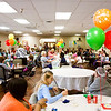 Balloons hang above tables at Lincoln Hills Health Center on Thursday afternoon during a party to celebrate the facility's perfect score with zero deficiencies on the Indiana Department of Health Annual Survey. Only 10 percent of about 450 facilities in the state do this well on the annual survey. Staff photo by Christopher Fryer