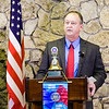 Jeffersonville Mayor Mike Moore speaks during his 2014 State of the City Address at the Clarion Hotel Conference Center in Clarksville on Tuesday afternoon. Staff photo by Christopher Fryer
