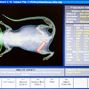 Results are shown on a laptop screen connected to a test model of a bone densitometer, which uses x-rays to measure bone density of mice, in a lab at Techshot in Greenville on Thursday morning. Staff photo by Christopher Fryer