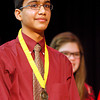 Suyash Uppal, an eighth-grader at River Valley Middle School, won the school's annual Geography Bee. Uppal will take the test to move on to the state finals, which will bring 100 students to the competition. Staff photo by Jerod Clapp