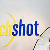 A Techshot logo sits above the front desk at their location in Greenville on Thursday morning. Staff photo by Christopher Fryer