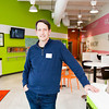 Owner Chris Hicks stands inside Swirlz Yogurt and Coffee, located at 2784 Meijer Drive in Jeffersonville last week. Hicks renovated the restaurant in November of last year and reopened at the end of December with new features, products and options added to the frozen yogurt bar. Staff photo by Christopher Fryer