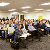 Attendees look on during a meeting of the Floyd County Plan Commission at the Pine View Government Center in New Albany on Wednesday evening. Staff photo by Christopher Fryer