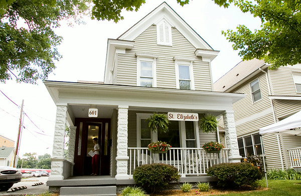 St. Elizabeth Catholic Charities' recently completed 12-bed maternity home is pictured at 601 E. Market in New Albany during an open house at the organization's campus Monday afternoon. Staff photo by Christopher Fryer