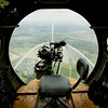"""A bombardier sight is pictured in the nose of a B-17 bomber as it flies above Louisville and southern Indiana on a media flight as part of The Liberty Foundation's 2014 Salute to Veterans tour. The plane, which dates back to 1945, was used in the 1990 film """"Memphis Belle"""", and is one of only 12 B-17 bombers in the world that are still able to fly. Staff photo by Christopher Fryer"""