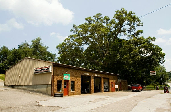 Faulkenburg Automotive is pictured along Paoli Pike in Floyds Knobs. The business was operated by Mike Anderson as Mike's Tire Service from April of 1981 until Monday, July 21 when ownership was officially transferred to Derrick Faulkenburg. Staff photo by Christopher Fryer