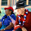 Gary McCowan, 72, Jeffersonville, sits and listens during the Jeffersonville Celebrating Freedom program in Warder Park on July 4. McCowan said his father served in World War II. Staff photo by Jerod Clapp