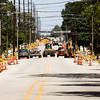 Construction crews work on the East Main Street improvement project between East Fifth and Vincennes streets in New Albany on Friday afternoon. Staff photo by Christopher Fryer