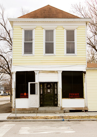 A vacant structure is pictured at 922 Culbertson Ave. in New Albany on Tuesday afternoon. New Albany City Councilman Dan Coffey is pushing to have the building demolished, but Indiana Landmarks is working to save the historic structure that dates back to the late 19th century. Staff photo by Christopher Fryer
