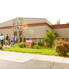 Students move between buildings at Rock Creek Community Academy near Sellersburg on Tuesday morning. Staff photo by Christopher Fryer