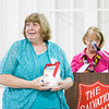 Debbie Smith, Lanesville, is recognized for her volunteer service during The Salvation Army Southern Indiana's annual volunteer luncheon in New Albany on Wednesday. Staff photo by Christopher Fryer