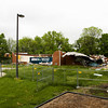 Remnants of the former Galena Elementary School building are pictured during the demolition of the structure located next to Floyd Central High School on Wednesday afternoon. The majority of the structure will be torn down, but the gymnasium and some classroom space will be left for further use by Floyd Central. Staff photo by Christopher Fryer