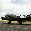 "A B-17 bomber is pictured at the Clark County Airport following a media flight as part of The Liberty Foundation's 2014 Salute to Veterans tour. The plane, which dates back to 1945, was used in the 1990 film ""Memphis Belle"", and is one of only 12 B-17 bombers in the world that are still able to fly. Staff photo by Christopher Fryer"