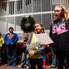 "Lauren Yowell, 8, left, and her sister Giavanna, 11, both of New Albany, solo while singing ""Up on the Housetop"" during youth choir practice at Centenary United Methodist Church in New Albany on Monday evening in preparation for a holiday concert at the church Dec. 14 at 7 p.m. Staff photo by Christopher Fryer"