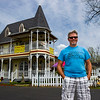 Co-owner Bryan Fraley is pictured outside of The Widow's Walk Ice Creamery and Bicycle Rentals and The Widow's Peak Salon, 415 E. Riverside Drive, in Clarksville on Tuesday afternoon. Fraley and his partner, Jerry Fraley, have owned the property for 11 years and are selling in order to retire. Staff photo by Christopher Fryer